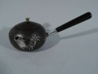 Gorham Teapot - Japonesque Mixed Metal Crabs - American Iron & Sterling Silver