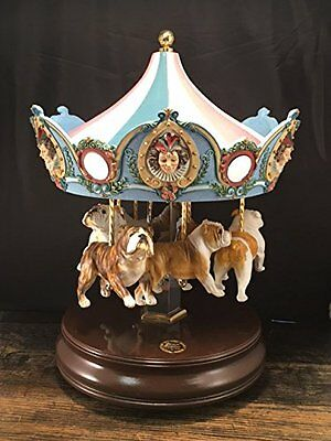 Bulldog Carousel Music Box - Vintage - (San Francisco Music Box Co.)