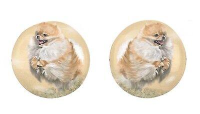 Stud Earrings - Pomeranian