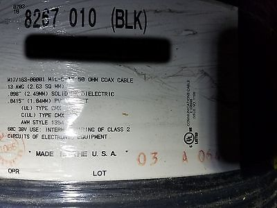 Belden 8267 RG-213/U 13awg 50Ohm Shielded Low-Loss Coaxial Cable MIL-C-17 /20ft