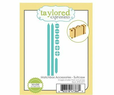 Taylored Expressions Die Set ~ MATCHBOX ACCESSORIES - SUITCASE - Travel ~TE1077