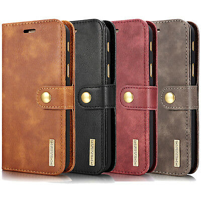 Removable Flip Leather Wallet Card Case Cover For Samsung Galaxy S7 Edge/S8 Plus