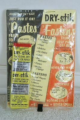 Dry Stik Rubber Cement Vintage Collectible Vintage