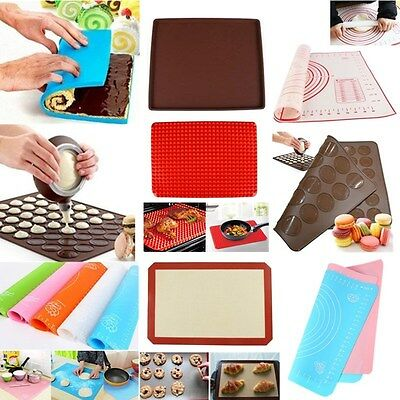 Silicone Cooking Mat Non Stick Heat Resistant Liner Oven Baking Tray Sheet