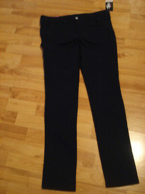 Girl's Official Schoolwear Navy Blue Cotton Blend Pants by French Toast Size 16