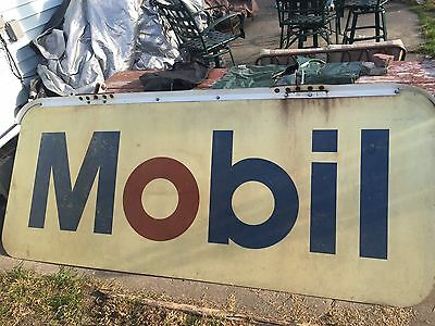 "Mobil Gas Vintage Petroliana Sign With Original Brackets 102"" x 43 1/2"""