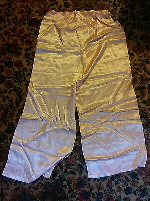 005 Vintage Womans Silky Peach Color Night Sleep Pants Small