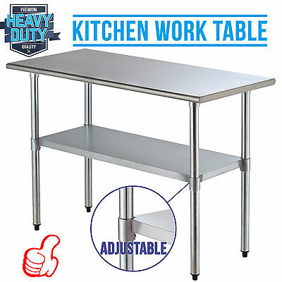 "New Stainless Steel Prep Work Table - 24""x48"" NSF Commercial Kitchen Restaurant"