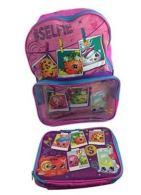 """Shopkins Backpack for Girls with Lunch Bag Large 16"""""""