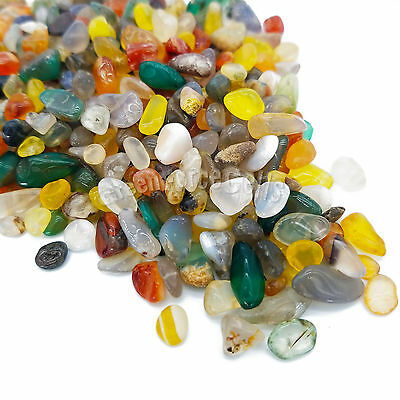 100g Natural Mix Color Agate Crystal Gravel Gemstone Tumbled Stones Degaussing