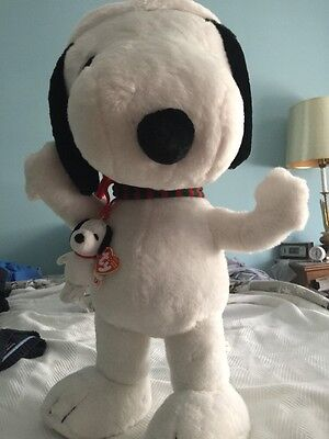 Santa Snoopy With Little Snoopy New Plush