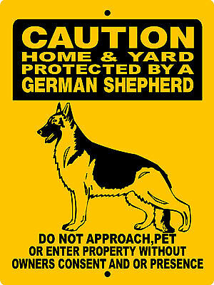 "GERMAN SHEPHERD  DOG SIGN,9""x12"" ALUMINUM SIGN,SECURITY,WARNING,DANGER3CY"