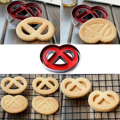 Smile Face Design Cookie Mold Stainless Steel Spring Press Fondant Cutter Tool