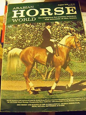 AUG 1976 ARABIAN HORSE WORLD magazine