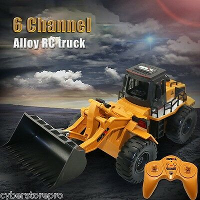 HUINA 1520 1:14 2.4G 6CH RC Simulation Alloy Truck Construction Toy