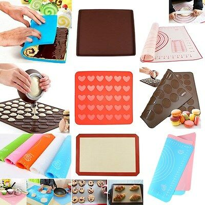 Non Stick Silicone Cooking Mat Heat Resistant Liner Oven Baking Tray Sheets