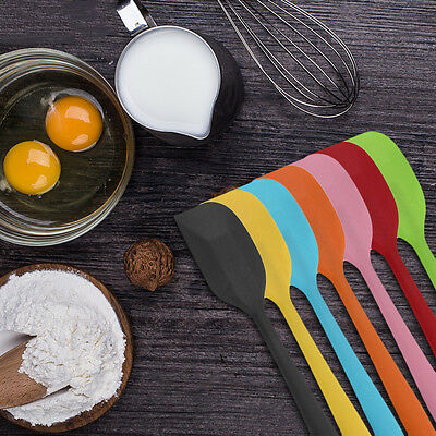 Silicone Kitchen Cake Spatula Mixing Batter Scraper Butter Baking Bakeware Tool~