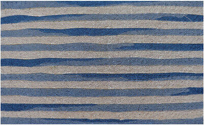 DIVINE 100% Coir QUALITY Doormat Door Mat Large 75 x 45 Light BLUE WHITE STRIPE