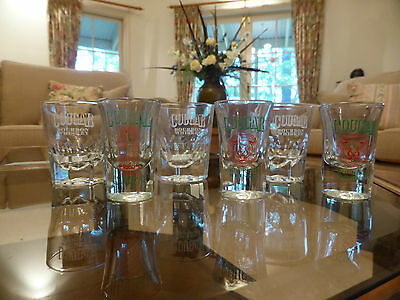 COUGAR BOURBON WHISKEY SHOT GLASSES x 6 Two different styles