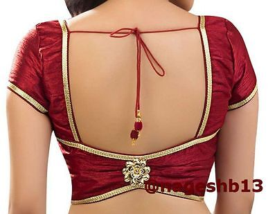 Readymade Saree Blouse, Maroon Sari Blouse, Croptop, Choli, ready to wear blouse
