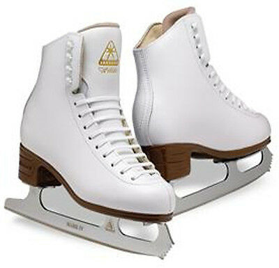 Jackson Mystique.figure Skates.junior.child.ice Skates.white.sharpened For Free!