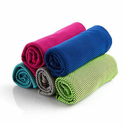 5pcs Instant Cooling Towel ICE Cold Golf Cycling Jogging Gym Sports Outdoor TOW