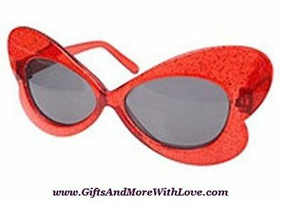 Gymboree NWT Red Glitter SOCIAL BUTTERFLY DRESS GEM SUNGLASSES 0 1 2 Years