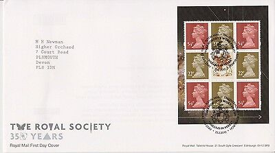 Gb Royal Mail Fdc 2010 The Royal Society Prestige Pane Tallents Pmk