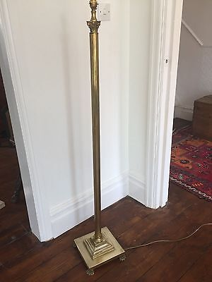 Vintage Antique BRASS CORINTHIAN COLUMN STANDARD LAMP