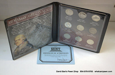 First Commemorative Mint 100 Years of American Nickels 1883-2006 9 Coin Set