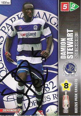 A Panini 2008 card. Personally signed by Damion Stewart of Queens Park Rangers.