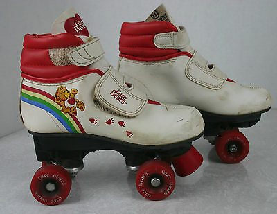 Vintage 1983 American Greetings Care Bears Roller Skates Child Size 13
