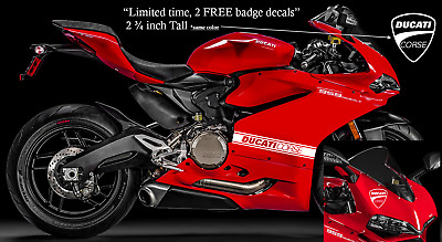 DUCATI Corse Stripes 2 decals 18 x 2.5  Panigale Supersport 899 959 1098 1199