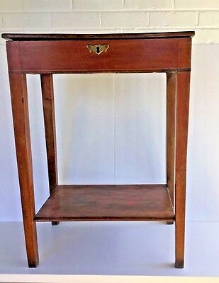 Antique Virginia Plantation Storage Table with Lock and Key c. 1700s