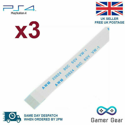 3x 14 pin Sony Playstation PS4 Controller USB Charging Port ribbon cable flex