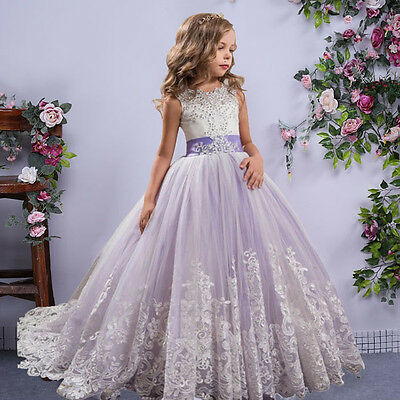 Luxury Flower Girl Princess Kid Party Pageant Wedding  Flower Girl Dress