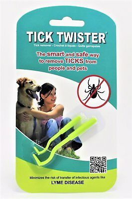 Tick Twister Remover for Human Pet Dog Cat Safest & Easiest Way To Remove Ticks
