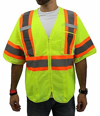 Class 3,  Lime Two Tones Safety Vest , ANSI/ ISEA 107-2015