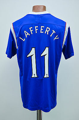 Glasgow Rangers Scotland 2011/2012 Home Football Shirt Jersey Umbro Lafferty #11