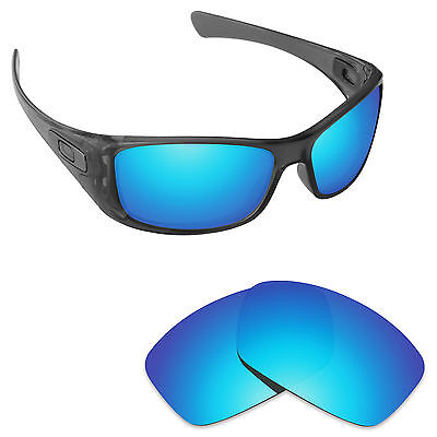 Hawkry Polarized Replacement Lenses for-Oakley Hijinx Sunglass Ice Blue Mirror