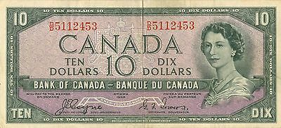 1954 Canada $10 Devil Face  Coyne  Towers