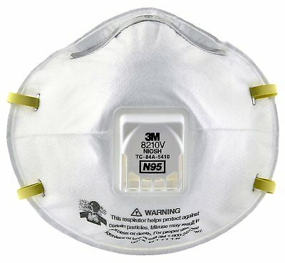 3M Particulate Respirator 8210V, N95 Respiratory Protection 10 Pcs