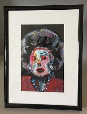 'RIP Maggie 3' Painting Of Margaret Thatcher By Alex Arnell. Signed.