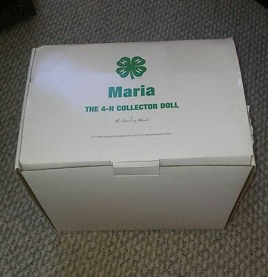RARE NRFB Maria The First 4-H Collector Doll Danbury Mint Porcelain Doll