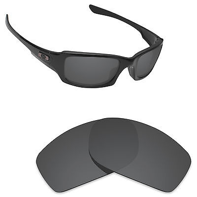 66d2ee846d Hawkry Polarized Replacement Lenses for-Oakley Fives Squared Stealth Black