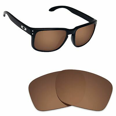 Hawkry Polarized Replacement Lenses for-Oakley Holbrook Sunglass Bronze Brown
