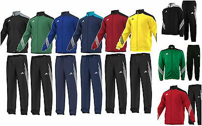 Adidas Boys Kids Junior Tracksuit Full Zip Tops Bottoms Training Sports Suit