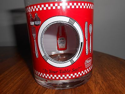 Four Heinz Ketchup Glass Tumblers