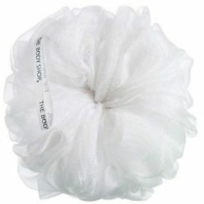 Body Shop Polisher Bath Sponge Puff Shower Lily White Wash Scrunchie FULL SIZE