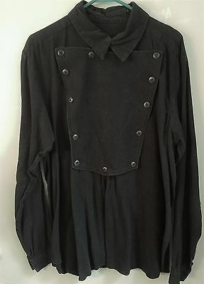 1860's Civil War SHIELD FRONT SHIRT Charcoal Gray Size Extra-Large Free Ship
